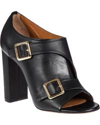 Chloé Buckled Ankle Boot Black Leather - Lyst