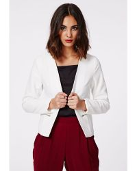 Missguided Emelie Tailored Textured Blazer - Lyst