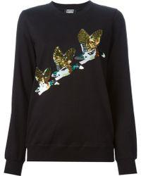 Markus Lupfer Sequin Embellished Bird Sweatshirt - Lyst