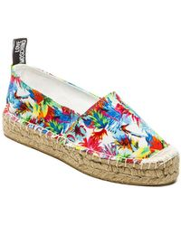 Love Moschino Floral Jungle Flat - Lyst