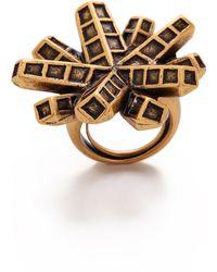 Oscar de la Renta Anemone Ring - Russian Gold - Lyst