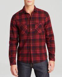 Alternative Apparel - Yarn Dye Flannel Button Down Shirt - Lyst