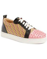 Christian Louboutin 'Louis' Spiked Sneaker - Lyst
