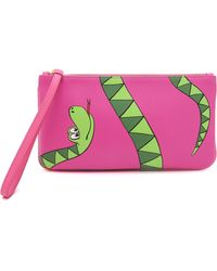 Moschino Cheap And Chic Snake Wristlet - Multi - Lyst