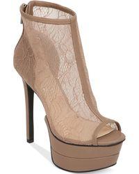 Jessica Simpson Raglinn Lace Platform Booties - Lyst