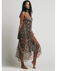 Free People Floating Flutter Maxi - Lyst