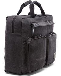 Hex Convertible Briefcase - Black