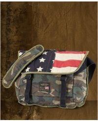 Denim   Supply Ralph Lauren - Camo Flag Canvas Messenger Bag - Lyst 9cace93119c66
