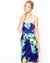 Coast Tinae Print Bandeau Dress - Lyst