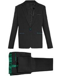 Céline - Satin-Trimmed Wool Suit - Lyst