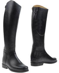 Le Chameau Boots black - Lyst