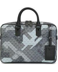 Emporio Armani Logo Print Laptop Case - Gray