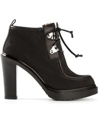 Sergio Rossi Chunky Heel Boots - Lyst