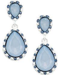 Style & Co. - Silver-tone Ice Blue Teardrop Earrings - Lyst