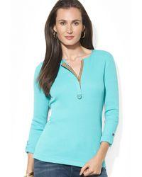 Ralph Lauren Lauren Roll Sleeve Shirt - Lyst