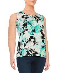 Nipon Boutique | Plus Lucite Floral Tank | Lyst