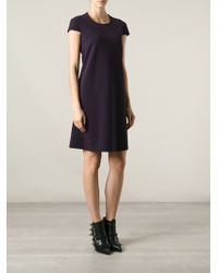 Alexander McQueen Flared Mini Dress - Lyst