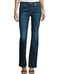 7 For All Mankind | Tailorless Low-rise Boot-cut Jeans (shorter Inseam) | Lyst