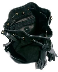 ASOS Leather Duffle Bag with Chunky Tassels - Black