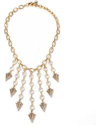 Lulu Frost Istria Statement Necklace gold - Lyst