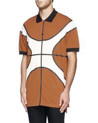 Givenchy Heat Sealed Seam Basketball Polo Shirt - Lyst