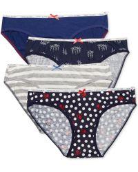 Tommy Hilfiger Logo Elastic Bikini R14t027 - Lyst
