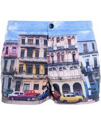 Paul Smith Havana-Print Swim Shorts - Lyst