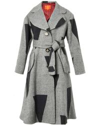 Vivienne Westwood Red Label - Patchwork Wool-Blend Coat - Lyst