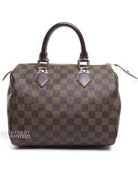 Louis Vuitton | Pre-owned Damier Ebene Speedy 25 Bag | Lyst
