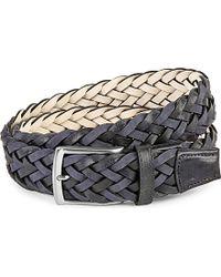 Duchamp - Plaited Leather Belt - Lyst