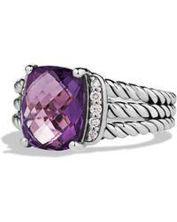 David Yurman - Petite Wheaton Ring With Amethyst And Diamonds - Lyst