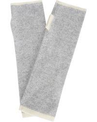 Eileen Fisher - Striped Fingerless Cashmere Gloves - Lyst
