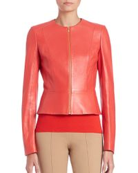 Michael Kors | Plonge Fitted Leather Jacket | Lyst