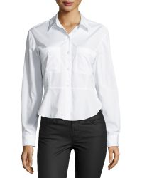 Theory Aliza Sartorial Flared Blouse - Lyst