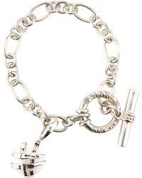 Slane - Crescent Weave White Onyx Charm Bracelet - Lyst