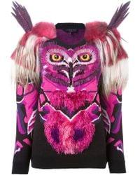 Manish Arora - Embellished Intarsia Knit Owl Jumper - Lyst