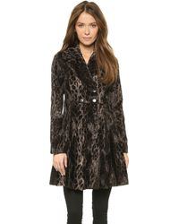 Nanette Lepore High Voltage Coat - Leopard - Lyst
