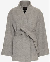 Exclusive For Intermix - Belted Wrap Coat: Grey - Lyst