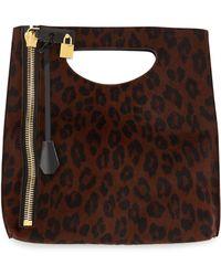 Tom Ford Alix Calf Hair Zip & Padlock Crossbody Bag - Lyst