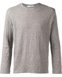 Julien David Gray Knit T-Shirt - Lyst