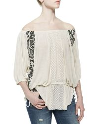 Free People Off-The-Shoulder Butterfly Tunic - Lyst