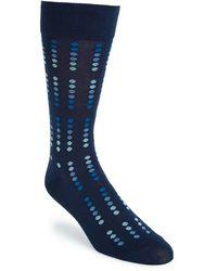 Cole Haan 'Ombre Mirror Dot' Pima Cotton Blend Socks blue - Lyst