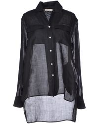 Celine Black Shirt - Lyst