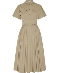 Michael Kors Stretch-Cotton Poplin Dress - Lyst