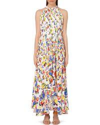 Saloni Irina Abstract-Print Maxi Dress - For Women - Lyst