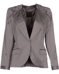 Costume National Blazer gray - Lyst