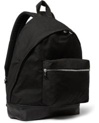 Sandro Leather-Trimmed Canvas Backpack - Lyst