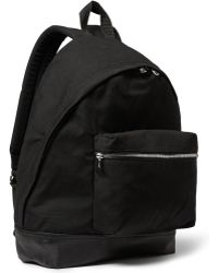 Sandro - Leather-Trimmed Canvas Backpack - Lyst
