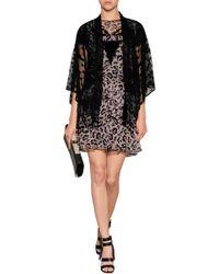 Anna Sui Lace Panel Dove Print Dress - Lyst