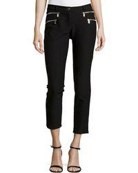 Michael Kors Double Zipper Skinny Jeans - Lyst